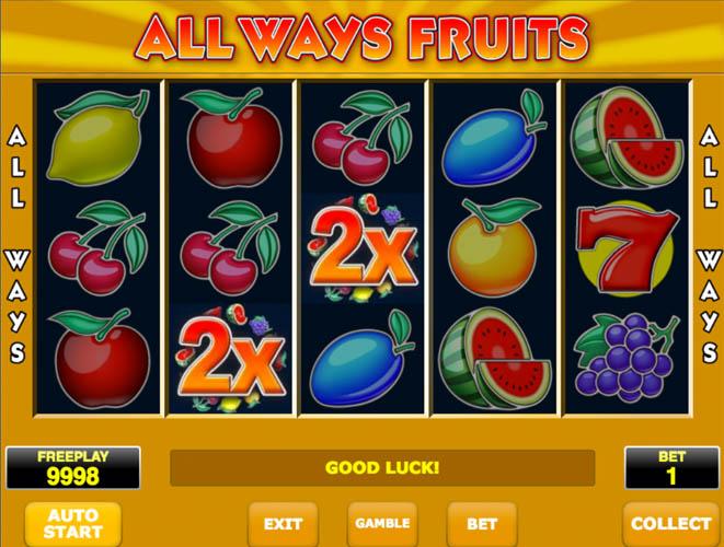 All Ways Fruits gokkast