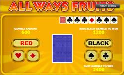 De Gamble functie van de All Ways Fruits gokkast