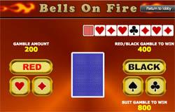 Gamble Functie op de Bells on Fire gokkast