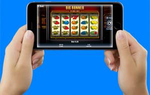 Big Runner gokkast op een iPhone