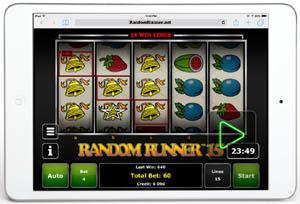 Random Runner15 op een iPad
